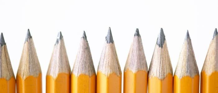 Play Therapy Certification Alabama - row of sharpened pencils
